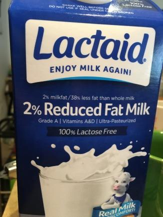 the milk I used